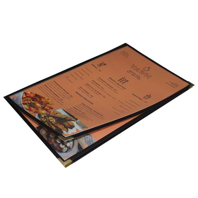 cafe style clear menu covers letter size gta hop inc