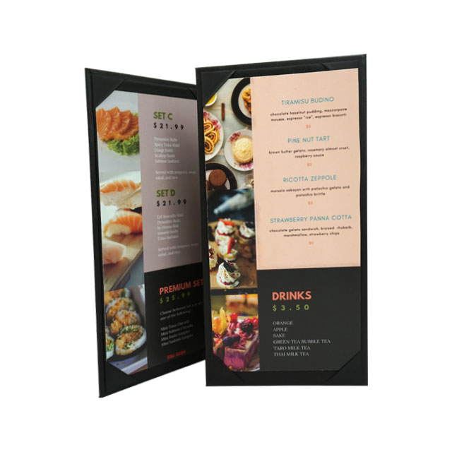 orion custom restaurant menu cover