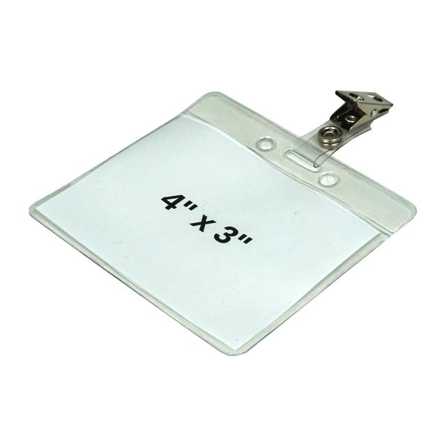 "LP-2877AA 4"" x 3"" Plastic ID Badge Holder"