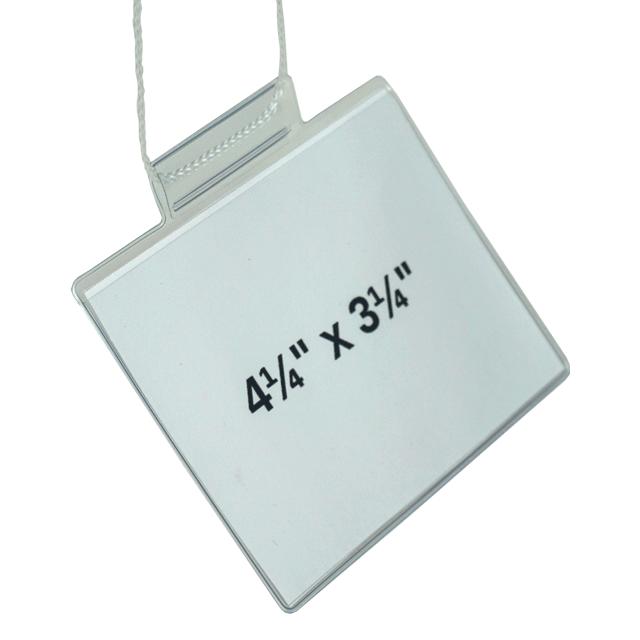 "LP-7500-WE 4.25"" x 3.25"" Badge Holder with White String"